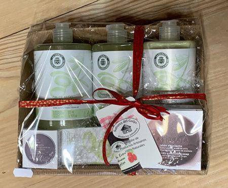pack cosmética de aceite de oliva